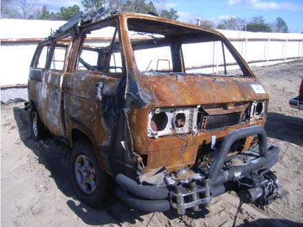 Jimmy Buffet's Syncro Burned